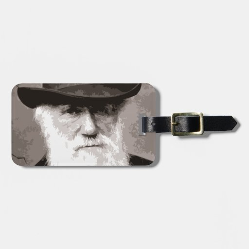 Charles Darwin in 1880, as an old gentleman Travel Bag Tag