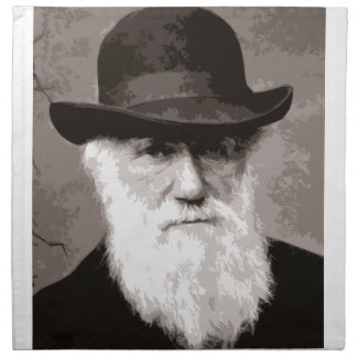 Charles Darwin in 1880, as an old gentleman Napkin