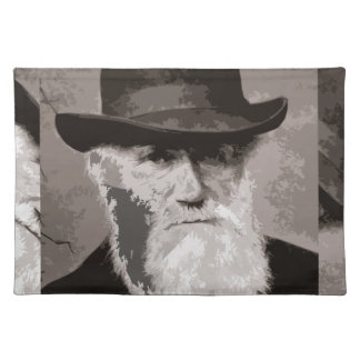 Charles Darwin in 1880, as an old gentleman Placemat