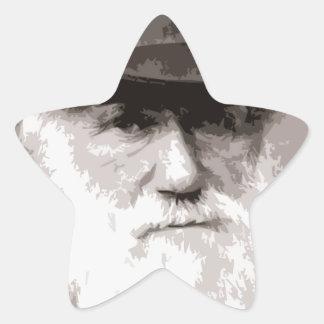 Charles Darwin in 1880, as an old gentleman Star Sticker