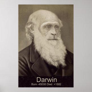Charles Darwin la pendiente del retrato de Darwin  Póster