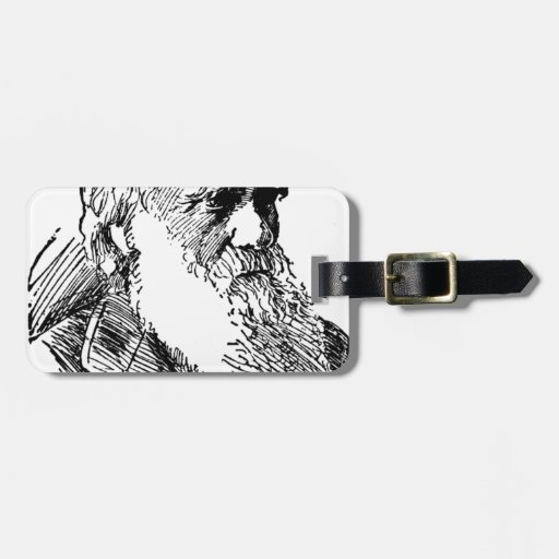 Charles Darwin Tag For Bags