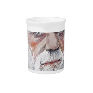 charles darwin - oil portrait pitcher