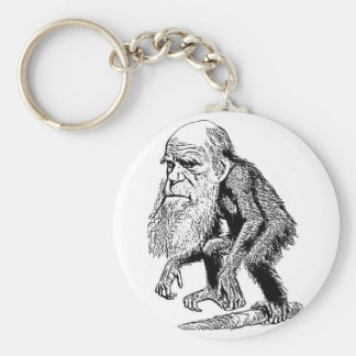 Charles Darwin Original Illustration Keychain