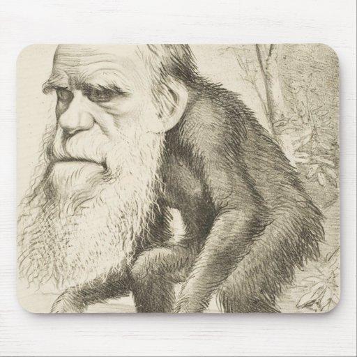 Charles Darwin Original Illustration Mouse Pad