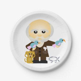 Charles Darwin Paper Plate