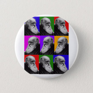 Charles Darwin Pop Art Gifts for All Ages Button