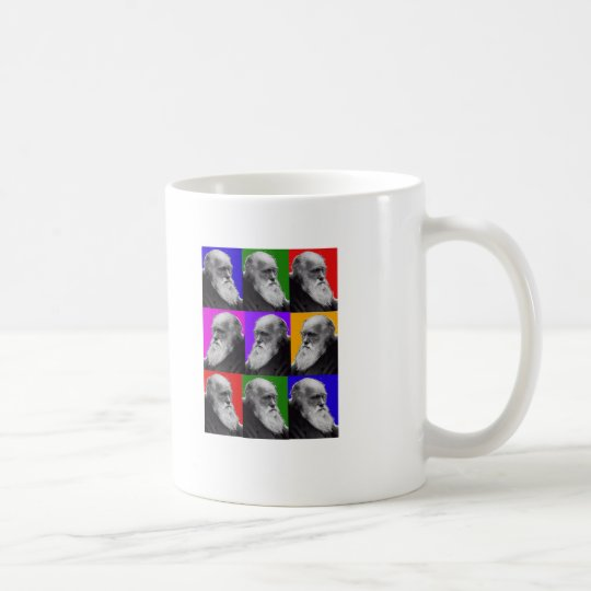Charles Darwin Pop Art Gifts for All Ages Coffee Mug