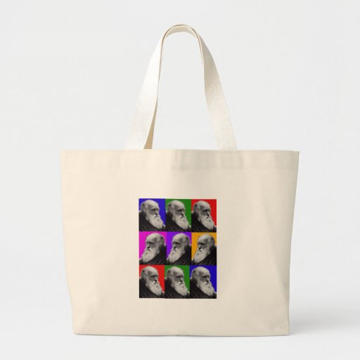 Charles Darwin Pop Art Gifts for All Ages Tote Bag