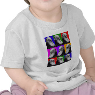 Charles Darwin Pop Art Gifts for All Ages T Shirt