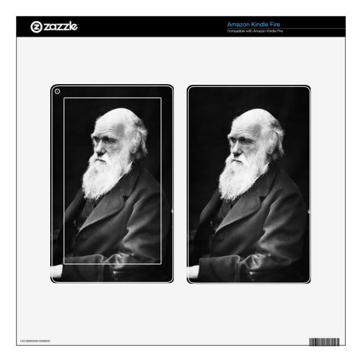 Charles Darwin Portrait Kindle Fire Skin