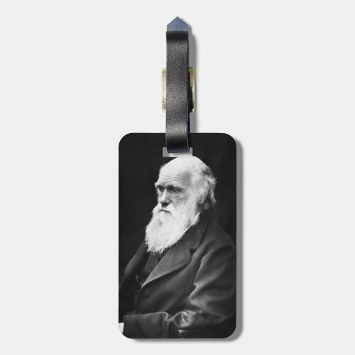 Charles Darwin Portrait Tag For Bags