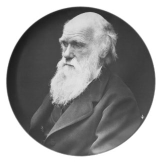 Charles Darwin Portrait Party Plates