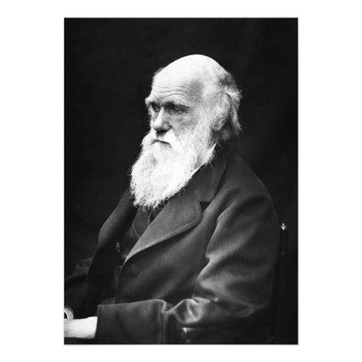 Charles Darwin Portrait Personalized Invites