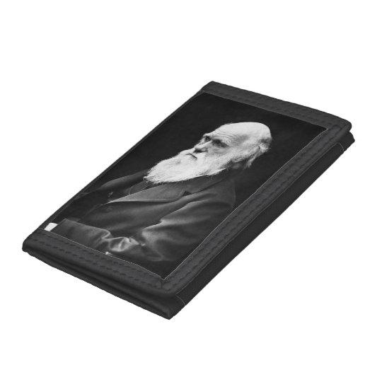 Charles Darwin Portrait Tri-fold Wallets