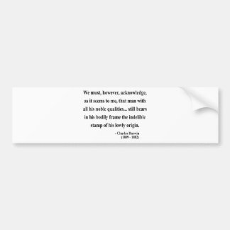 Charles Darwin Quote 1a Bumper Sticker