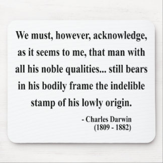 Charles Darwin Quote 1a Mouse Pad