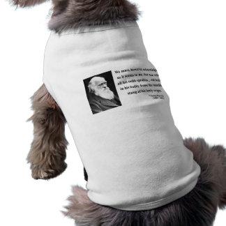 Charles Darwin Quote 1b Dog Tee Shirt