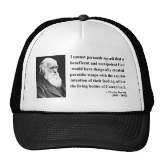 Charles Darwin Quote 2b Trucker Hat