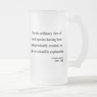 Charles Darwin Quote 3a Frosted Glass Beer Mug