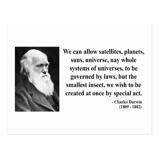 Charles Darwin Quote 4b Postcards