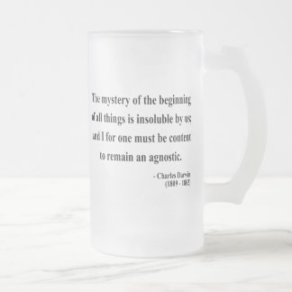 Charles Darwin Quote 5a Frosted Glass Beer Mug