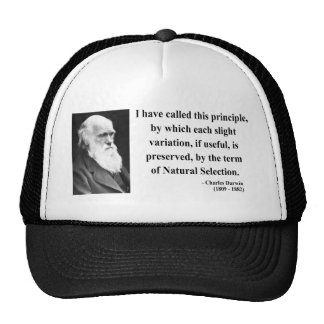 Charles Darwin Quote 6b Trucker Hat