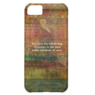 Charles Darwin  Quote about animals iPhone 5C Cover
