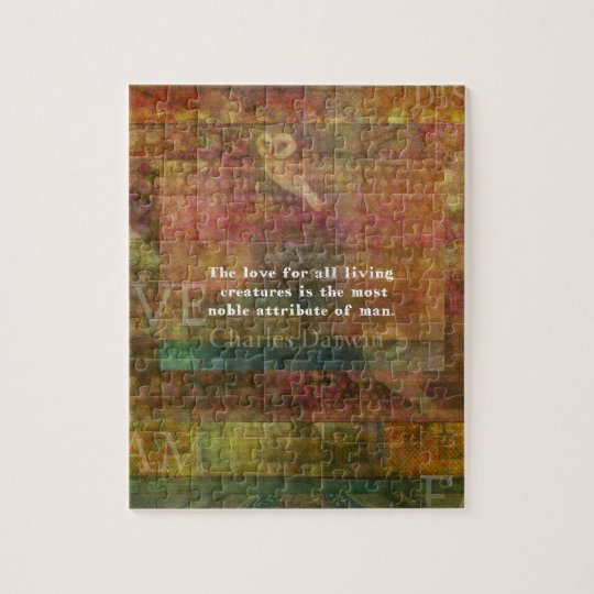 Charles Darwin  Quote about animals Jigsaw Puzzle