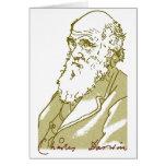 Charles Darwin. Tarjeta de nota
