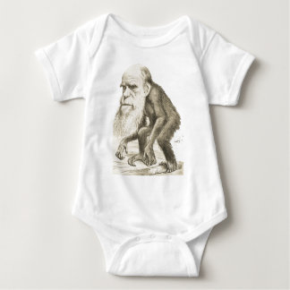 Charles Darwin the Monkey Man Baby Bodysuit