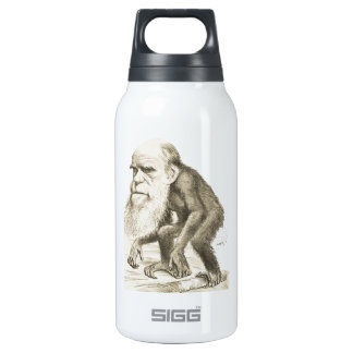 Charles Darwin the Monkey Man Insulated Water Bottle