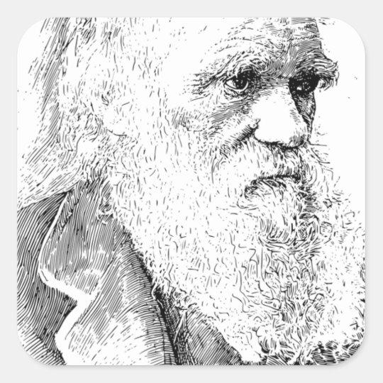 Charles Darwin, The Origin of Species 1872 Square Sticker