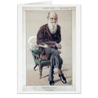 Charles Darwin Vanity Fair carda Tarjeta De Felicitación