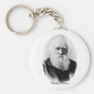 Charles Darwin Vignette Basic Round Button Keychain