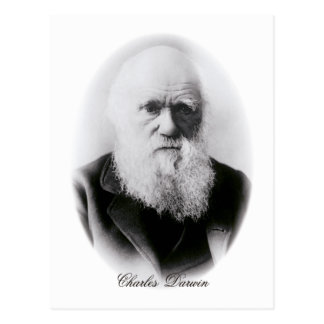 Charles Darwin Vignette Postcard