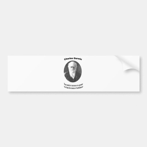 Charles Darwin with quote Bumper Sticker