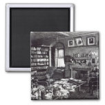 Charles Darwin's study at Down House, 1882 2 Inch Square Magnet