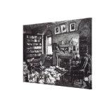 Charles Darwin's study at Down House, 1882 Canvas Print