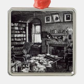 Charles Darwin's study at Down House, 1882 Metal Ornament