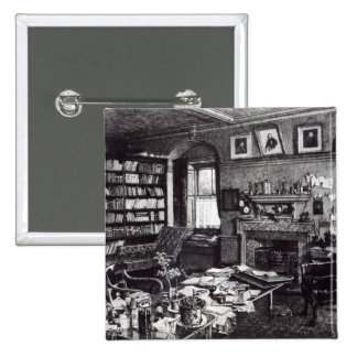 Charles Darwin's study at Down House, 1882 Pinback Button