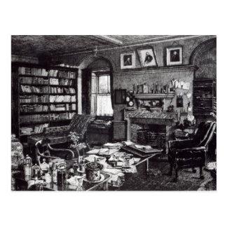 Charles Darwin's study at Down House, 1882 Postcard