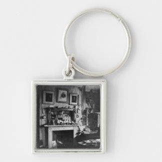 Charles Darwin's study at Down House Silver-Colored Square Keychain