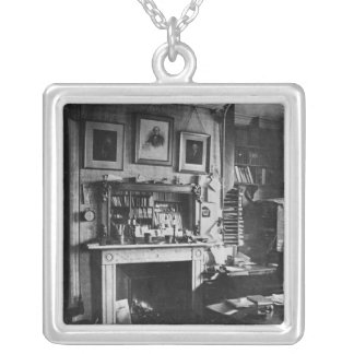 Charles Darwin's study at Down House Silver Plated Necklace