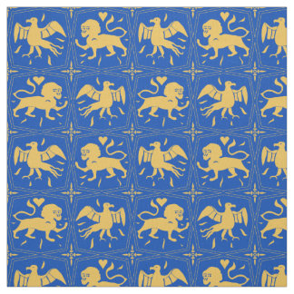 Charles de Blois inspired fabric- customised/blue Fabric