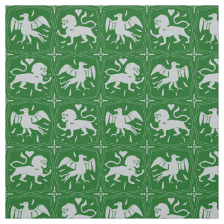 Charles de Blois inspired pattern-customised/green Fabric