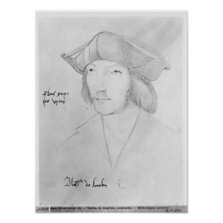 Charles de Bourbon  16th century Poster