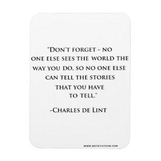 Charles de Lint Quote Magnet