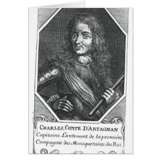 Charles de Montesquiou Count de Artagnan Tarjeta De Felicitación