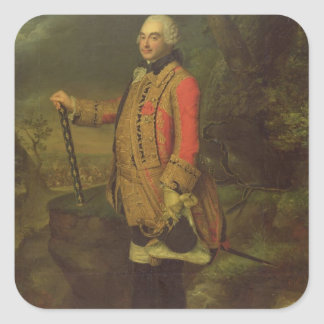 Charles de Rohan príncipe de Soubise Pegatina Cuadrada